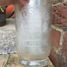 More details for antique irish advertising bottle banbridge co.down crystal mineral company