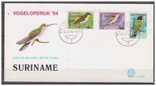 Surinam / Suriname 1994 FDC 172xx Papegaai parrot papagei papegai hummingbird
