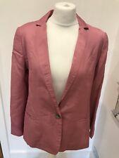 Gorgeous Mint Velvet Pink Linen Blend Blazer Jacket UK 12 Good Condition