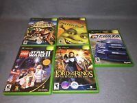 Original Xbox Star Wars 2, LOTR, Harry Potter, Shrek, Forza TESTED AND WORKING!!