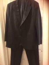 """M+S Black tuxedo evening suit chest 46 trousers adjust waist 38""""inside leg 32"""""""