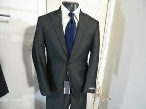 *NEW*  KENNETH COLE SIZE 36 SHORT GRAY 2 BUTTON SUIT