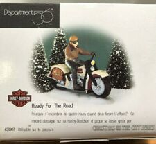 Dept 56 New! Christmas in the City Series Ready for the Road Harley-Davidson