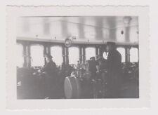 original Foto Dampfer BREMEN Lloyd KAPITÄN BRÜCKE USA FAHRT vintage photo  1935