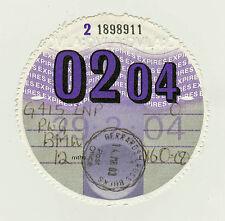Private Car Tax Disc BMW 02 / 2004
