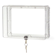 Thermostat Lockbox Cover Clear Plastic Cover Box with Key Lock