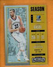 MarC Gasol 2017-18 Playoff Contenders Season Ticket Gold Prizm #43 /10
