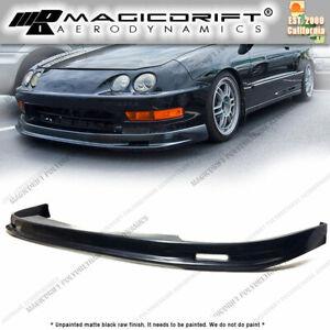 For 98-01 Acura Integra DC2 Mugen MU Style Front Bumper Lip Poly Urethane Black