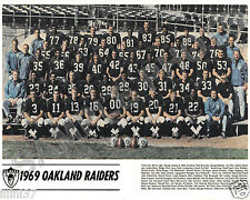 1969 OAKLAND RAIDERS 8X10 TEAM PHOTO PICTURE