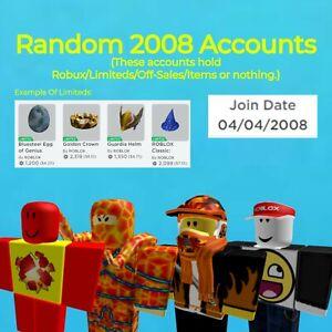 2008 RARE RANDOM UNVERIFIED ROBLOX ACCOUNTS 0-10K RAP