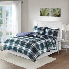 Full/Queen Parkston 3M Down Alternate All Season Comforter Set Micro Fiber Navy
