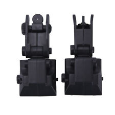 2Pcs Tactical Folding Front Rear Flip Up Backup Sights Set Hunting Accessory HF