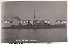 "Royal Navy Real Photo RPPC. HMS ""Princess Royal"" Battlecruiser. Weymouth.  1914"