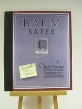 J  Baum Safe + Lock Co 1922 CATALOG Perfect Protection Fireproof - DEFECTS SALE