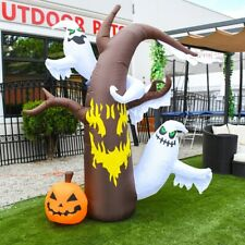 ALEKO Outdoor Yard Decor Halloween Inflatable Scary Dead Tree with Ghosts 7.5 ft