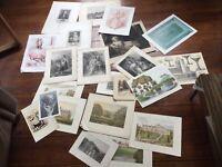Antique Prints Collectors Decorators Job Lot antique engravings etching prints