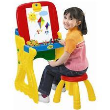 Kids Art Studio Easel Panel Crayola Play N Fold 2-in-1 Play Fun Learn Toddlers