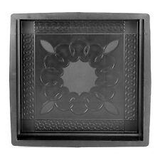Betonform Gießform Gips Gehweg Steine Terrasse Bodenplatte 40x40 Ornament 04004