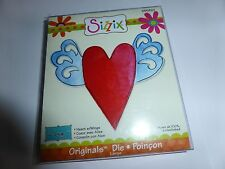 SIZZIX ORIGINALS DIE HEART WITH WINGS IDEAL FOR CARD MAKING AND OTHER CRAFTS