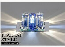 1PC Crystal Light Ceiling Aisle/Porch Lamp Blue and White LED Hallway Fixtures