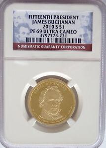 NGC 2010-S Proof JAMES BUCHANAN 15th Presidential Dollar PR PF69 US Mint $1 Coin