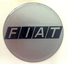 Fiat Badge Decal 60mm  Black on Silver background
