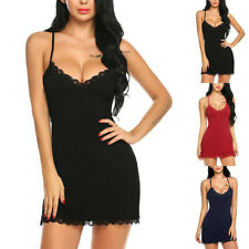 Women Lingerie Nightgown Lace Sexy Chemise Nightgown Babydoll  Sleepwear