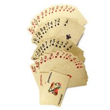 54Pcs / Set wasserdichte Luxus 24K Goldfolie überzog Poker für Tischkartenspiel