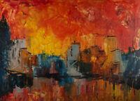 Tano De Simone (1935-2017) - Contemporary Oil, Venice Harbour