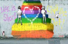 Canvas Art Graffiti street  Andy Baker poster COA Not a Banksy chill duck out