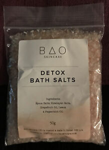Bao Skincare Detox Bath Salts 50g With Grapefruit Oil, lemon & peppermint Oil