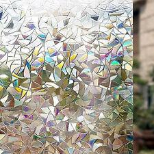 Rabbitgoo 3d No Glue Static Decorative Privacy Window Film for Glass NonAdhesive