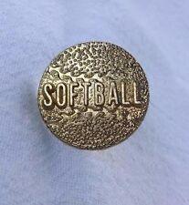 Softball Varsity Jacket Pin, Softball Letterman Jacket Pin, Softball Award Pin