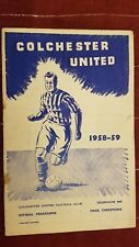 1959 FA CUP:  COLCHESTER UNITED v ARSENAL 4th Round -24th January