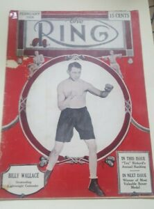 Vintage Ring Boxing Magazine. February 1928. Billy Wallace.