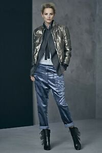 $1,175 BRUNELLO CUCINELLI beautiful modern Crushed Velvet Pants  BNWT