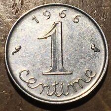 PIECE DE 1 CENTIME ÉPI DE BLÉ 1966 (248) PORTE BONHEUR SELON LES ANCIENS