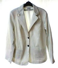 ETAM ladies white with black pin stripe  jacket size 22