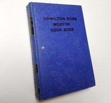 Hamilton Ross Modern Cook Book Vintage Blue Hardcover 1940 K. Camille Den Dooven