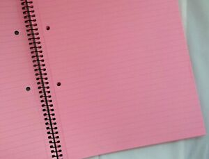 A4 Tinted Paper Refill Notepad Ideal For Dyslexia SEN Lined - Pink