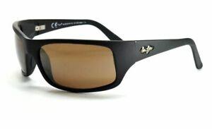 Maui Jim PEAHI MJ202-2M Matte Black / HCL Bronze Polarized Sunglasses