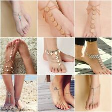Boho Barefoot Sandal Beach Anklet Foot Chain Jewelry Ankle Triangle Bracelet