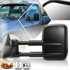 For 88-02 Chevy/GMC C/K 1500/2500/3500 Manual Extended Black Towing Mirror Left
