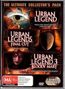 Urban Legend 1 + 2 + 3 Final Cut Bloody Mary DVD (3 DISC) Urban Legends Trilogy