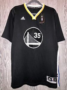 ADIDAS Warriors Kevin Durant #35 Replica Grey S/S Basketball Jersey NEW Mens XL