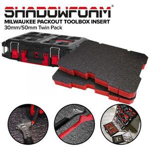 Shadow Foam Milwaukee Packout Toolbox Insert | Cut and Peel Foam