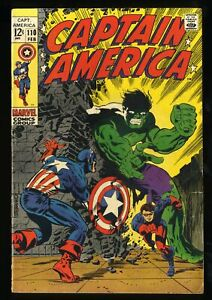 Captain America #110 VG+ 4.5 Hulk Battle! 1st Madame Hydra / Viper!