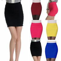Sexy Mini Skirt Slim Seamless Stretch Tight Short Fitted Women Candy Dress Skirt