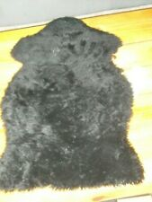 IKEA Sheepskin Rug SEJERBY black small 19025 sheepskin throw Seat Cushion