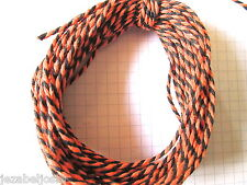 10  x Bi-Colour 2mm   Cotton Bakers Twine. Orange/Black Halloween MULTI-BUY